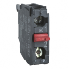 ZENL1111 - single contact block for head Ø22 1NO screw clamp terminal, Schneider Electric